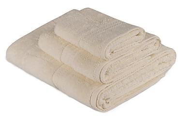 HOBBY Handduk Set om 3 Creme