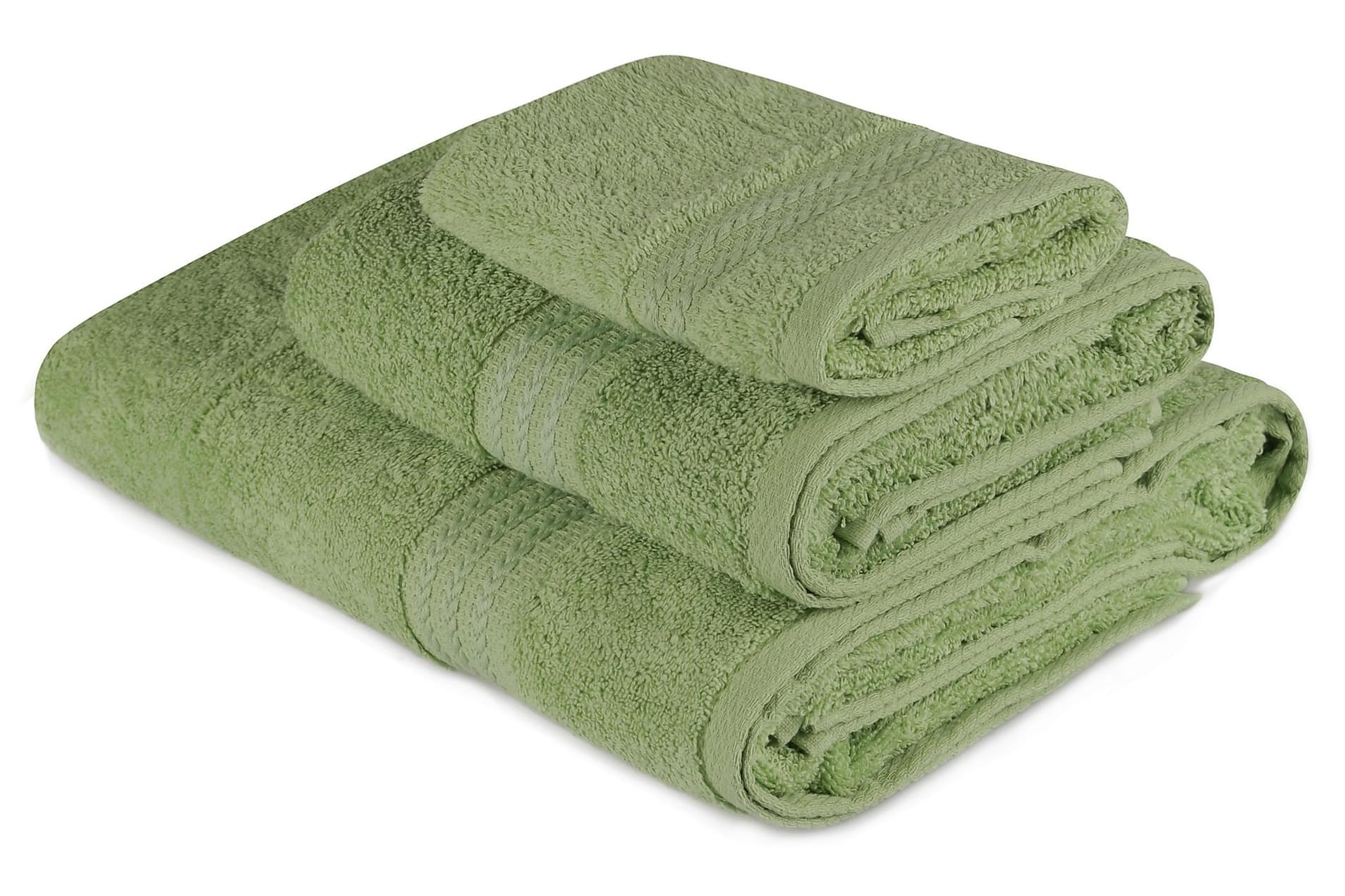 HOBBY Handduk Set om 3 Grön
