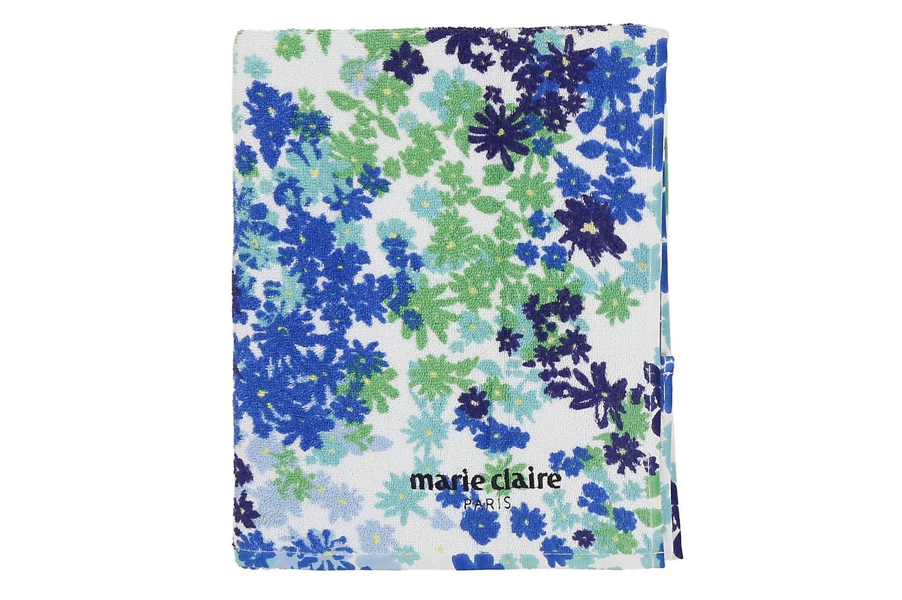 MARIE CLAIRE Badhandduk 80×150 Vit/Blå/Grön