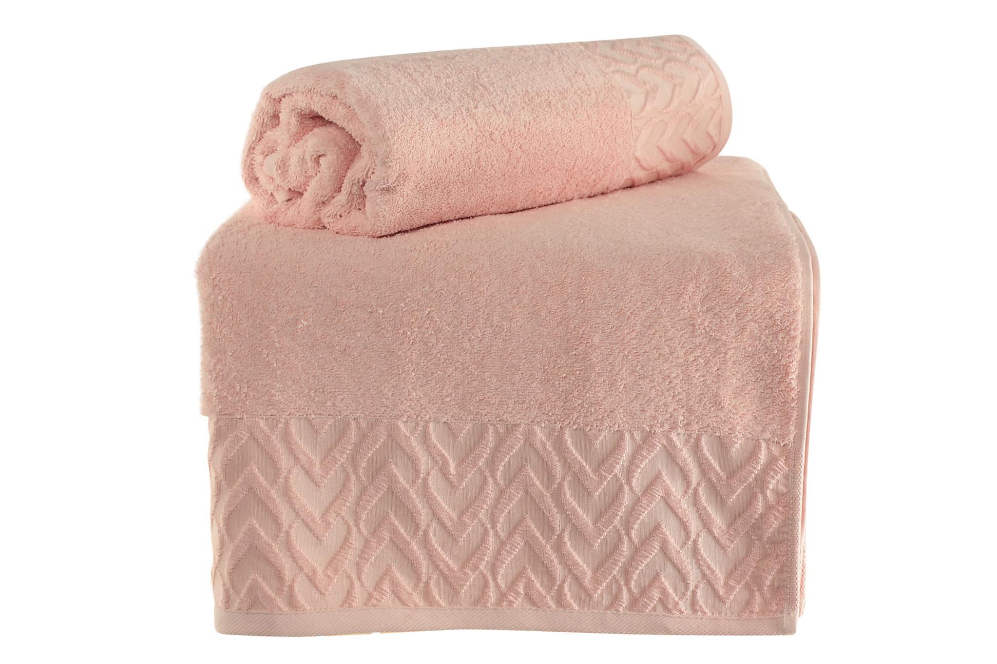 ŞAHESER Badhandduk 70×140 2-pack Rosa