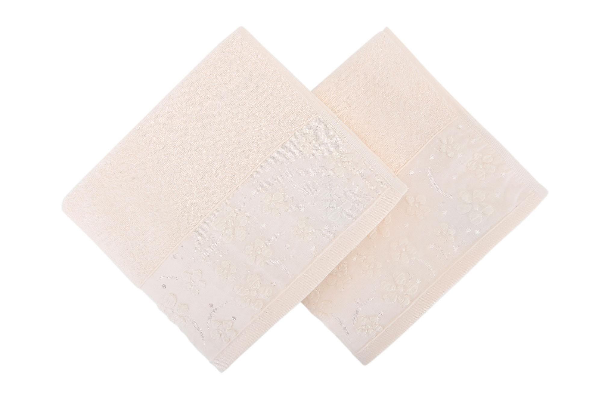 SOFT KISS Handduk 50×90 2-pack Creme