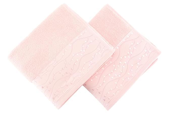 SOFT KISS Handduk 50x90 2-pack Rosa - Inomhus - Inredning - Badrumstextilier