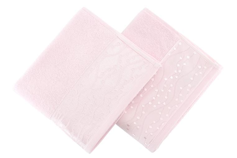SOFT KISS Handduk 50x90 2-pack Rosa - Möbler & Inredning - Inredning - Badrumstextilier