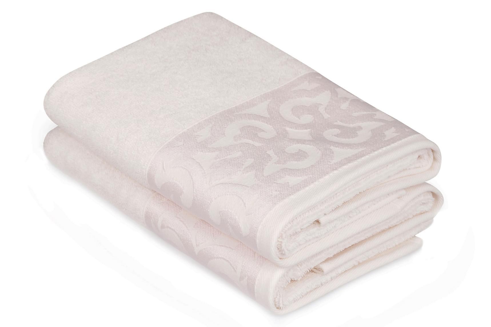 SOFT KISS Handduk 50×90 2-pack Sand/Rosa