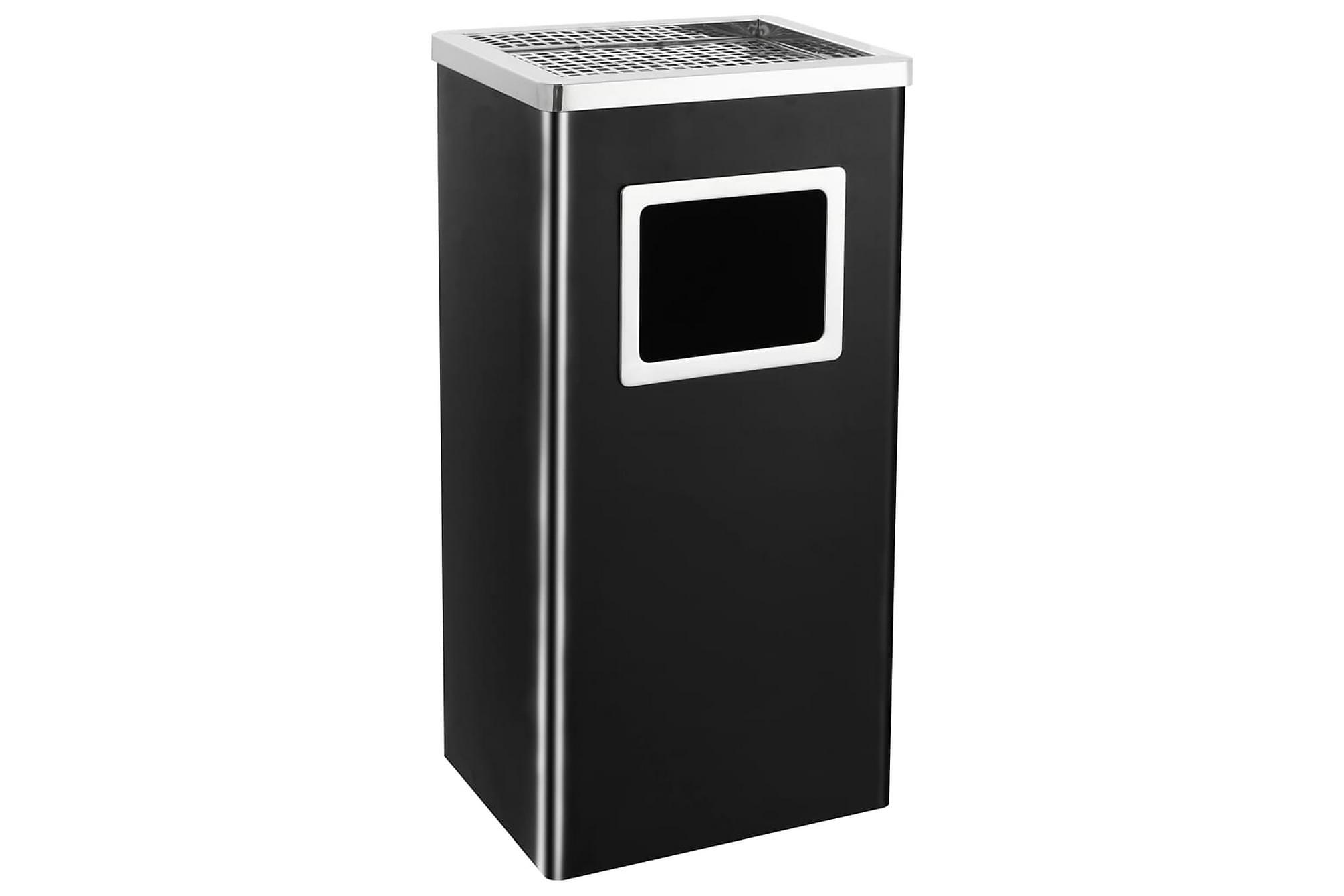 Askfat/soptunna 45 L stål svart, Badrumstillbehör