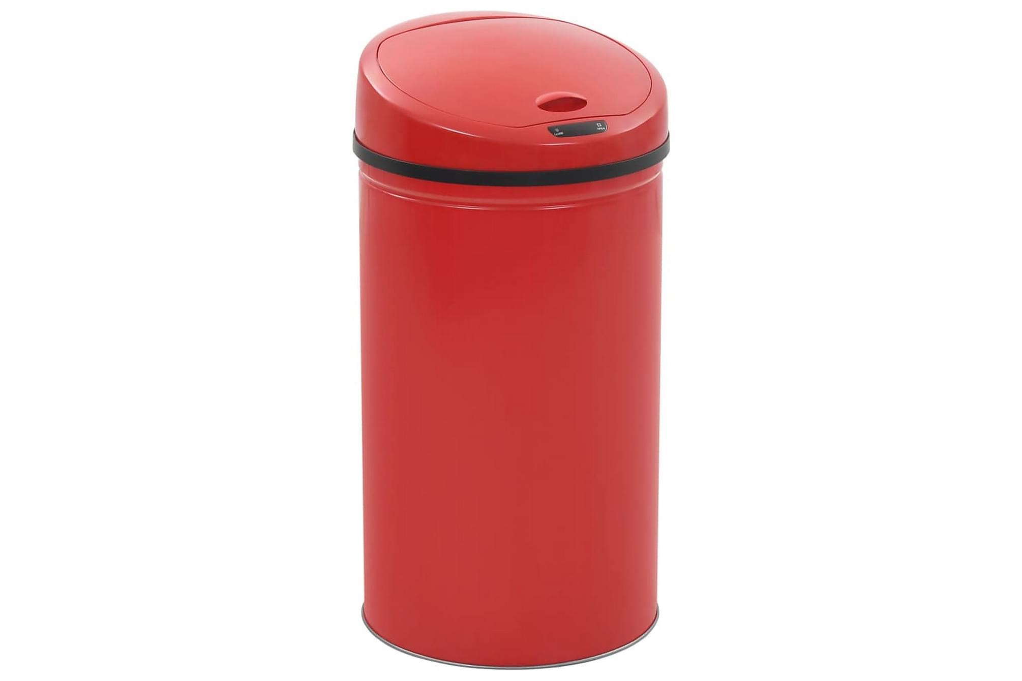 Soptunna med sensor 42 L röd