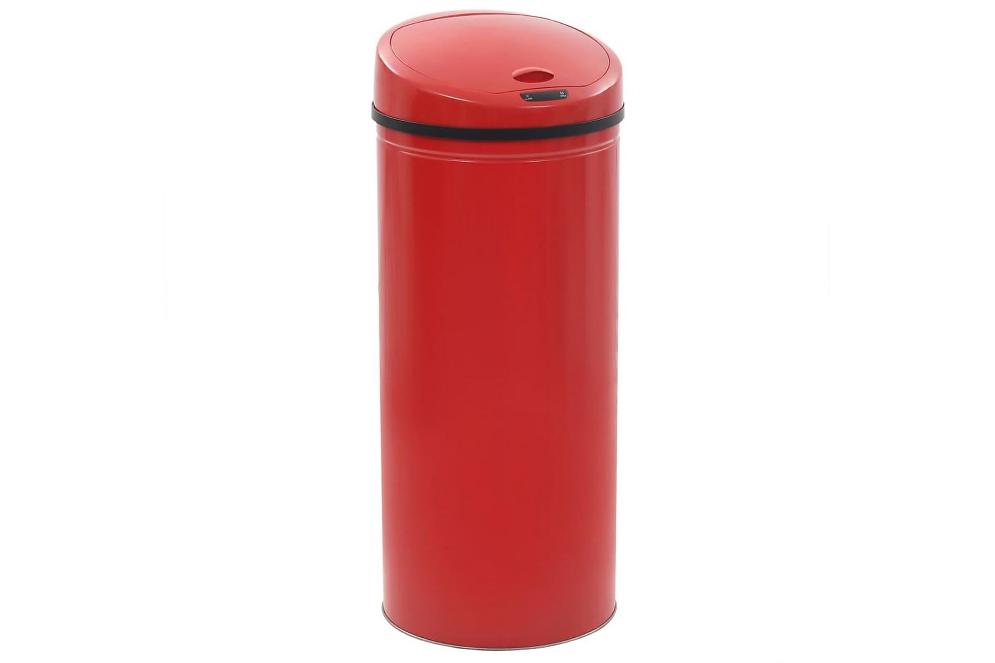 Soptunna med sensor 62 L röd