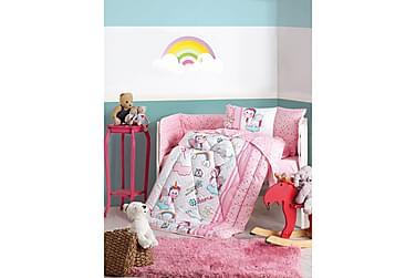 COTTON BOX Sovpaket Baby 6 Delar Ranforce Rosa/Vit/Turkos