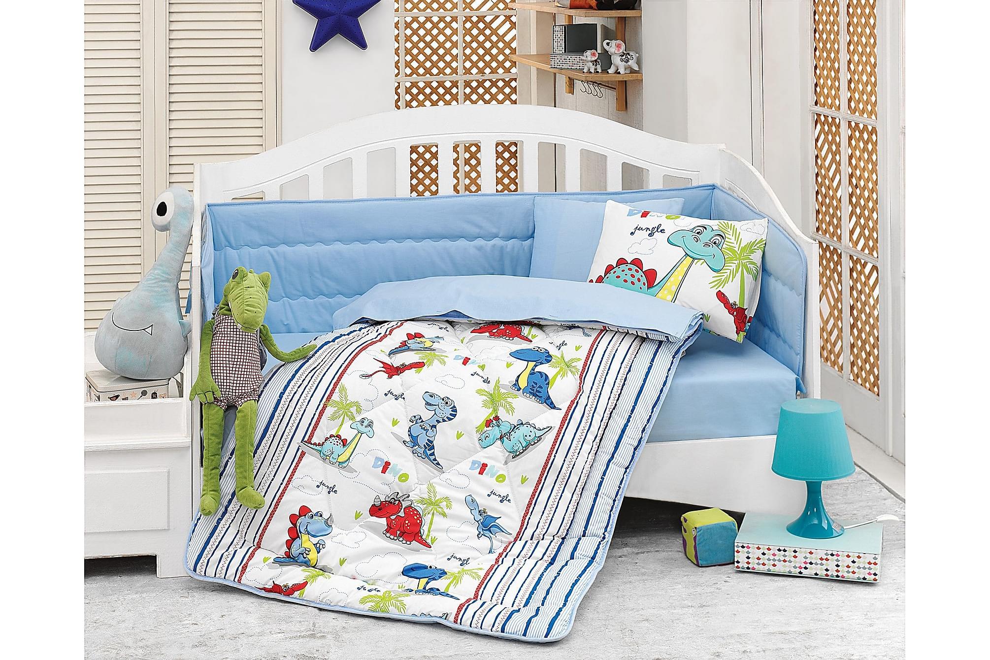 COTTON BOX Sovpaket Baby 6 Delar Ranforce Vit/Blå/Röd/Grön