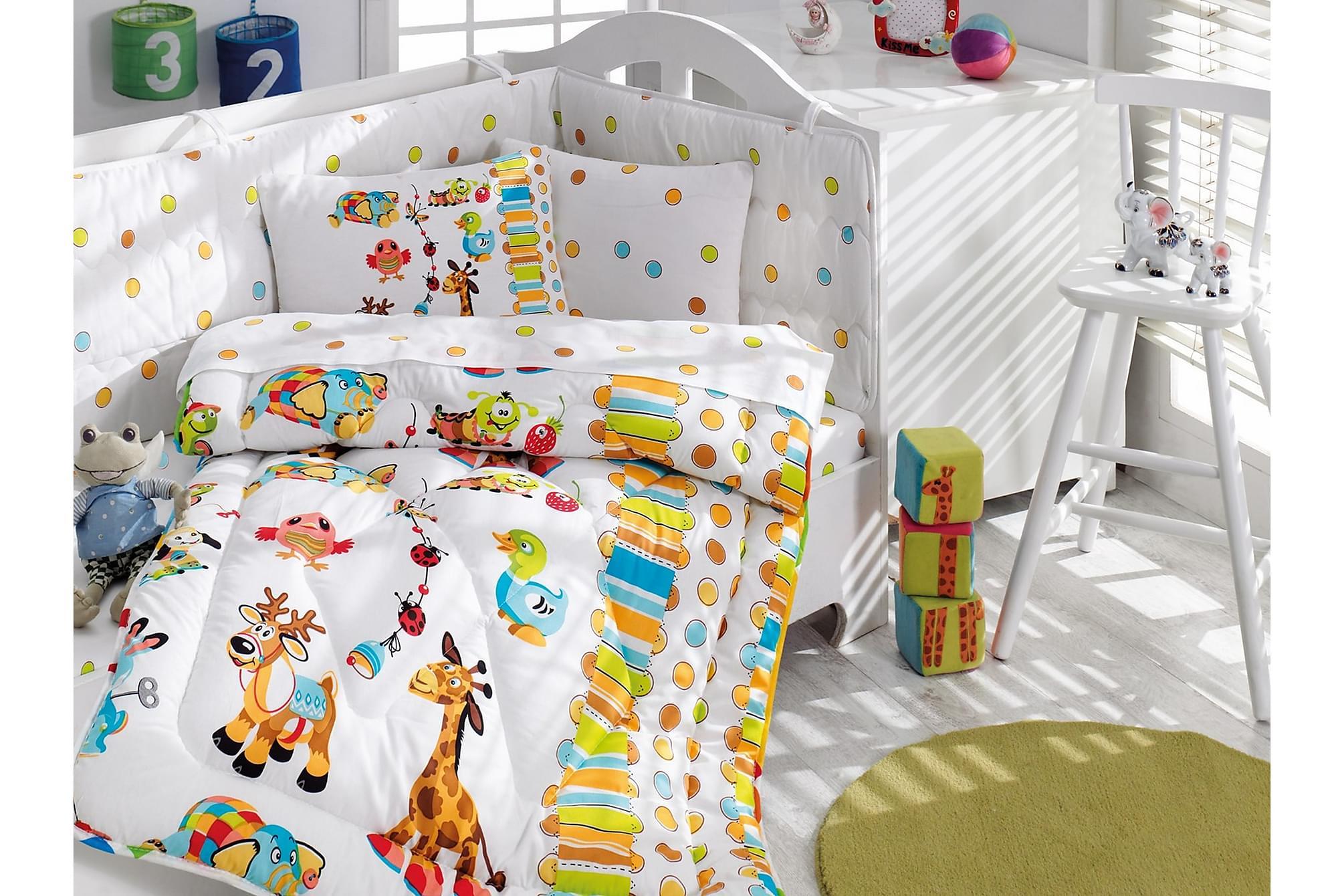 COTTON BOX Sovpaket Baby 6 Delar Ranforce Vit/Turkos/Multi