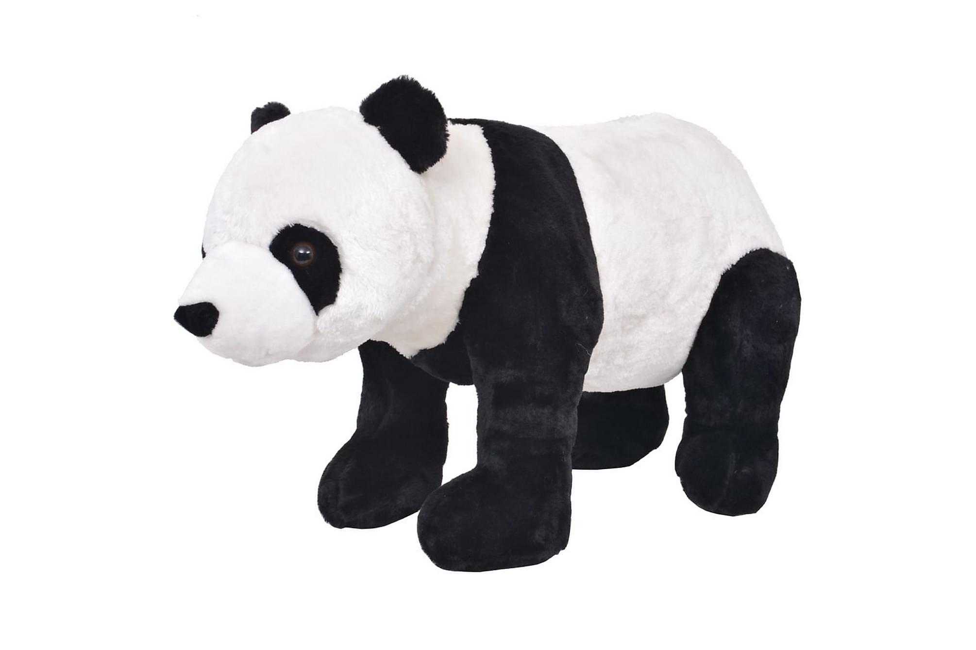 Stående leksakspanda plysch svart och vit XXL