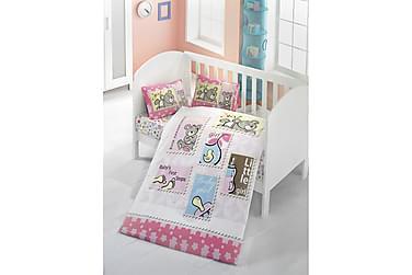 VICTORIA Bäddset Baby 4-dels Ranforce Rosa/Blå/Multi