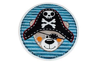 HERAS Matta Rund 120 Pirat Blå