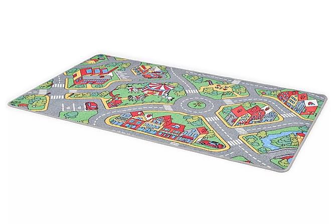 Lekmatta öglad lugg 133x190 cm stadsväg - Flerfärgad|Beige - Möbler & Inredning - Inredning - Barnmattor