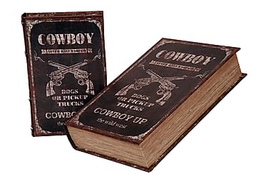 COWBOY Bokförvaring 2 Set Brun