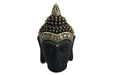 DEEPALI Dekoration Buddha Huvud 15x27 Mässing/Svart