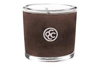 DOFTLJUS Glass Votive Mahogany Leather