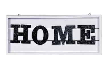 HOME Skylt Vit