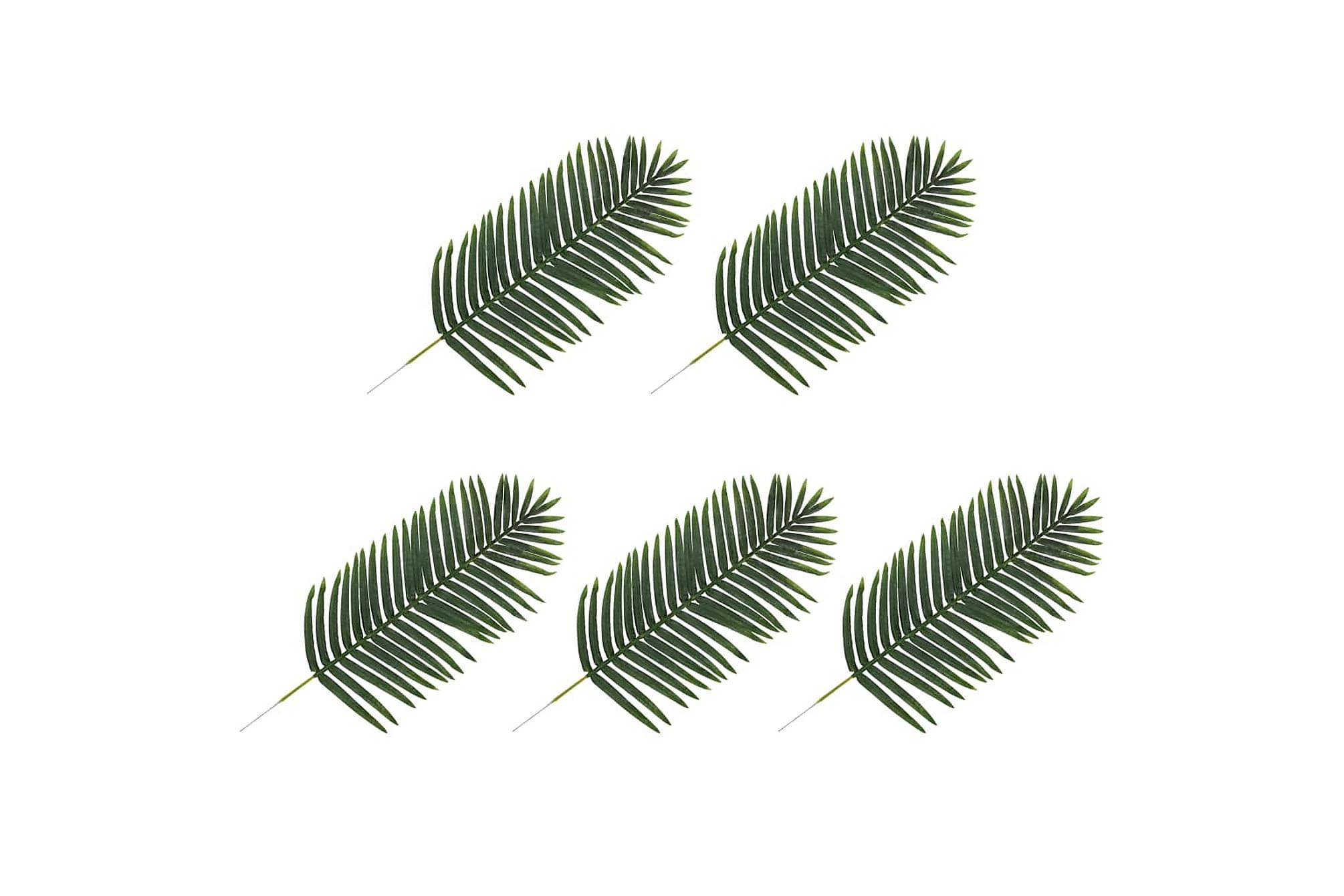 Konstgjorda blad palm 5 st grön 125 cm