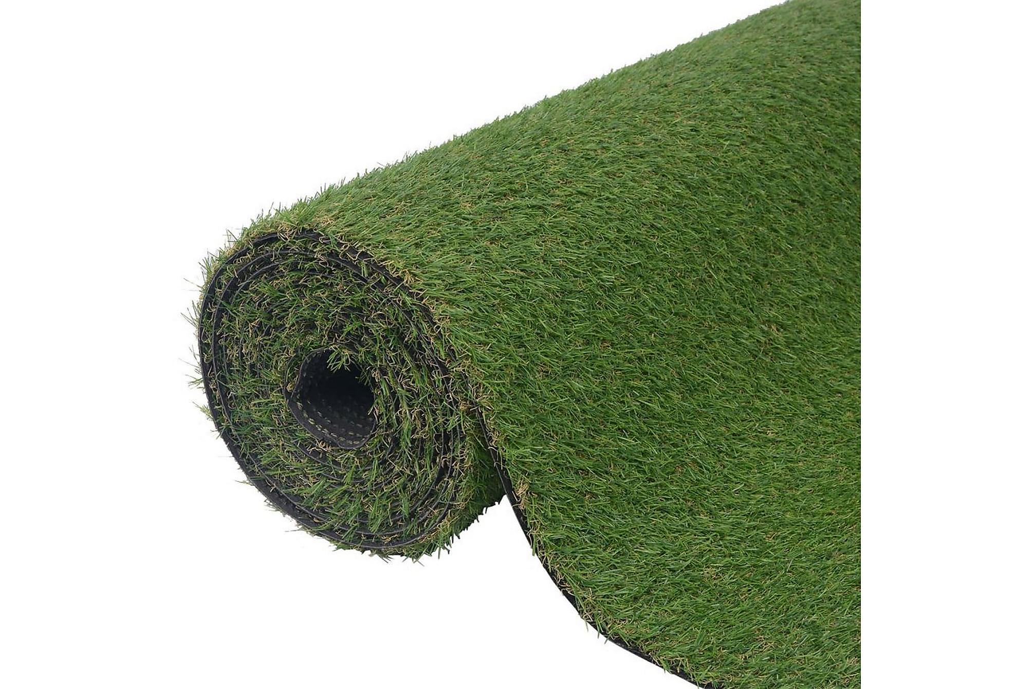 Konstgräsmatta 1 x 8 m/20-25 mm grön
