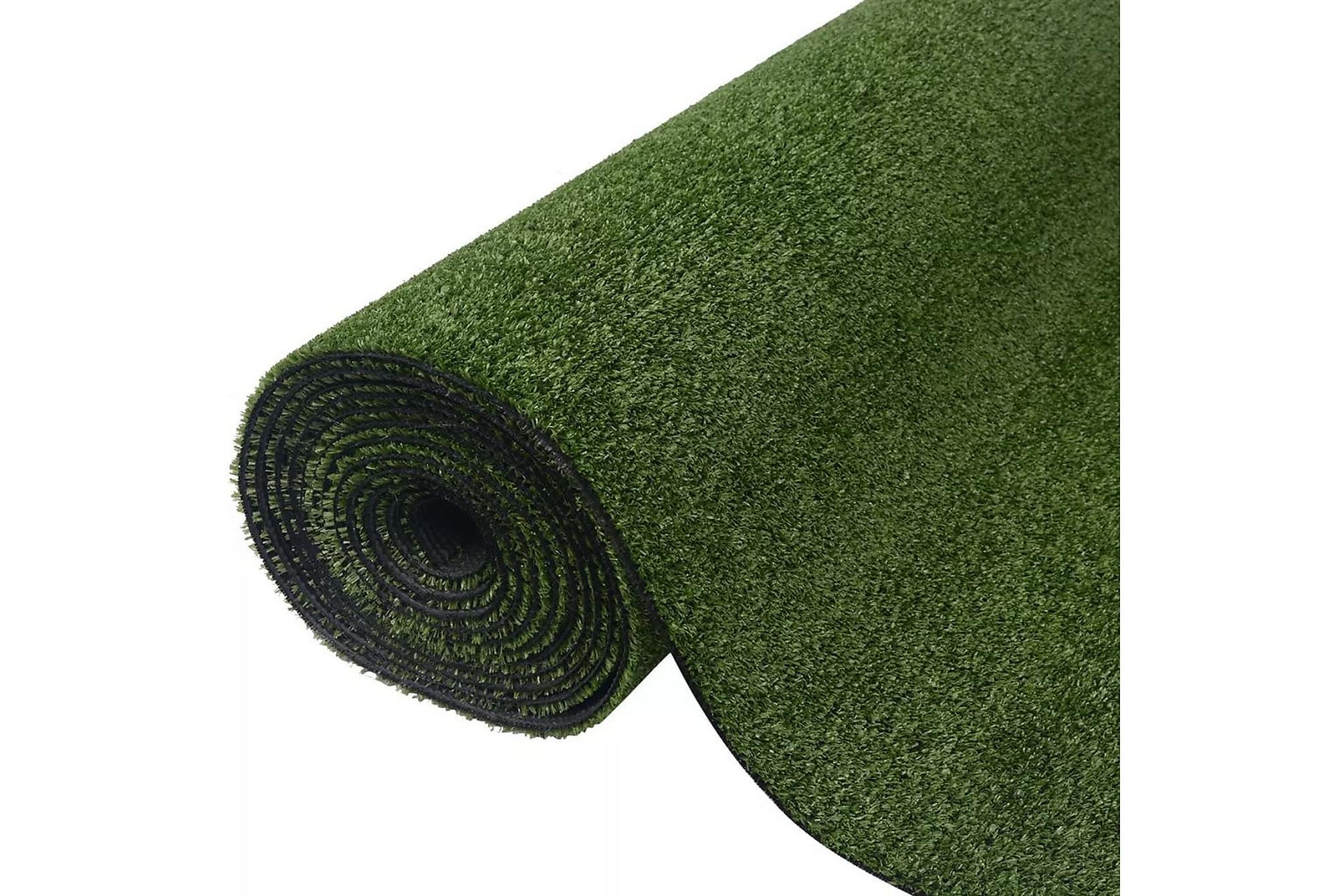 Konstgräsmatta 1,5×5 m/7-9 mm grön