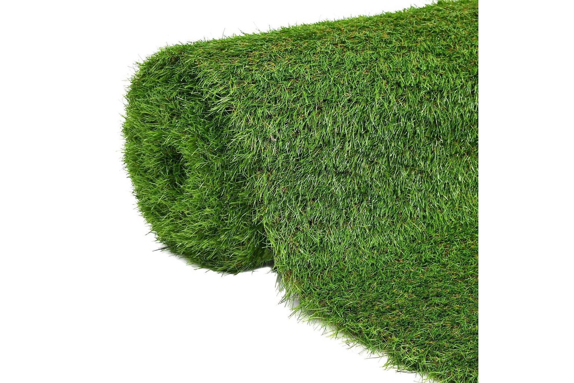 Konstgräsmatta 1×8 m/40 mm grön