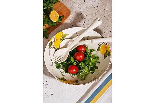 KOSOVA Saladsskål 25,5 Keramik Gul, Dekoration