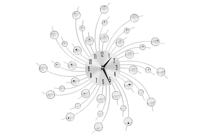 Väggklocka med Quartz-urverk 50 cm modern design - Silver - Möbler & Inredning - Inredning - Dekoration