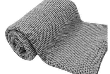 Caden Pläd 130x180 cm Grå