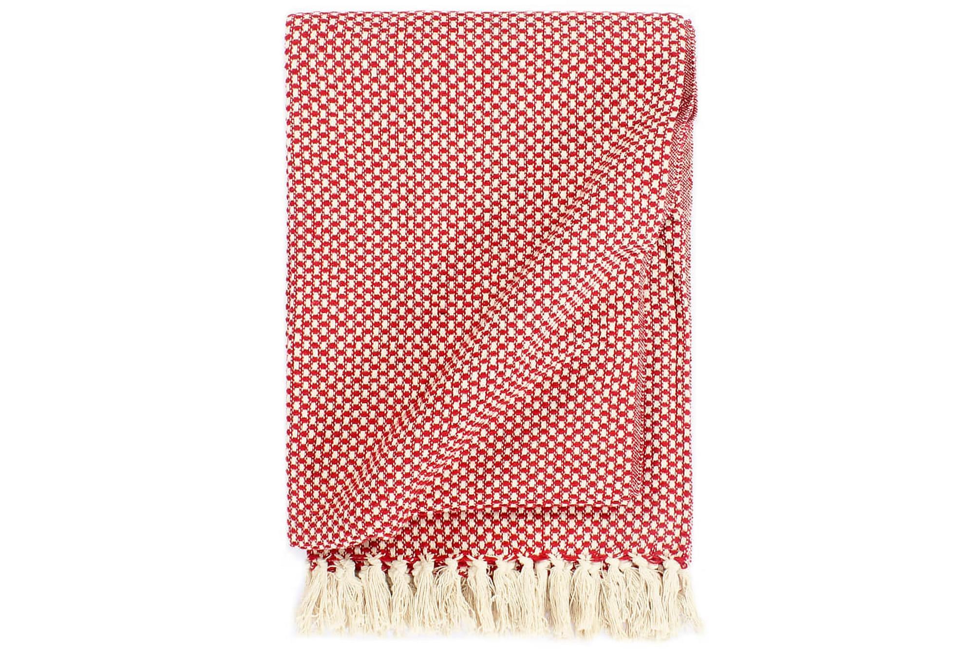 Filt bomull 125×150 cm röd