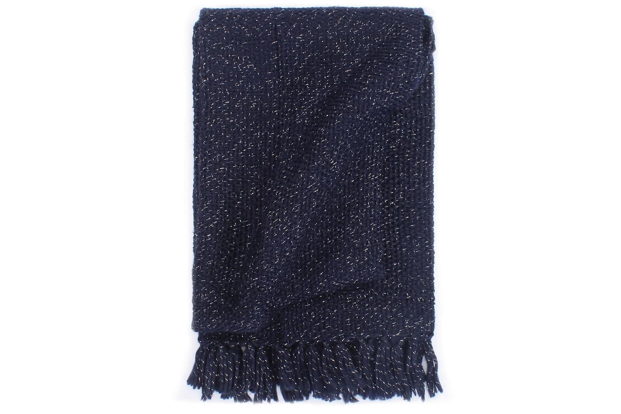 Filt lurex 160×210 cm marinblå