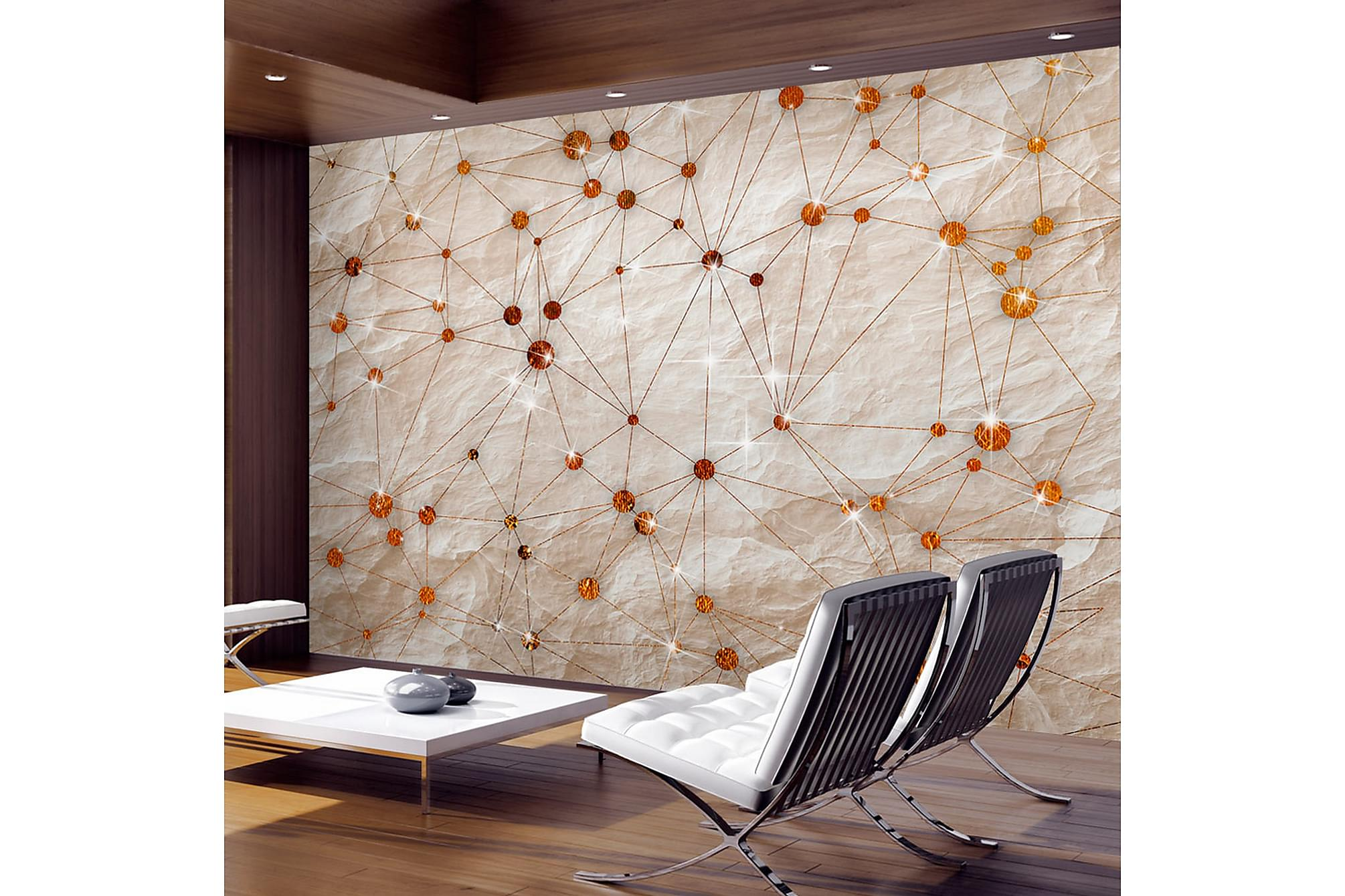Fototapet stone and gold 250x175