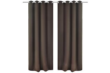 Minoa Mörkläggningsgardin Öljettlängd 2-pack 135x175 cm