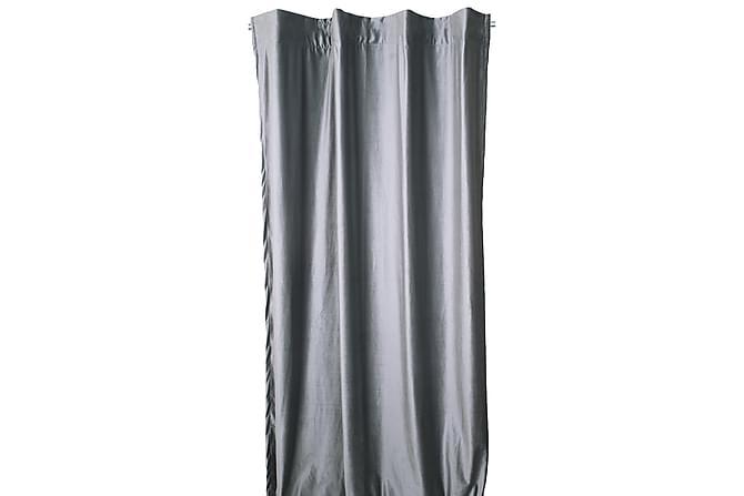 SAMMETSGARDIN med Multiband 2-Pack Silver - Möbler & Inredning - Inredning - Gardiner & gardinupphängning