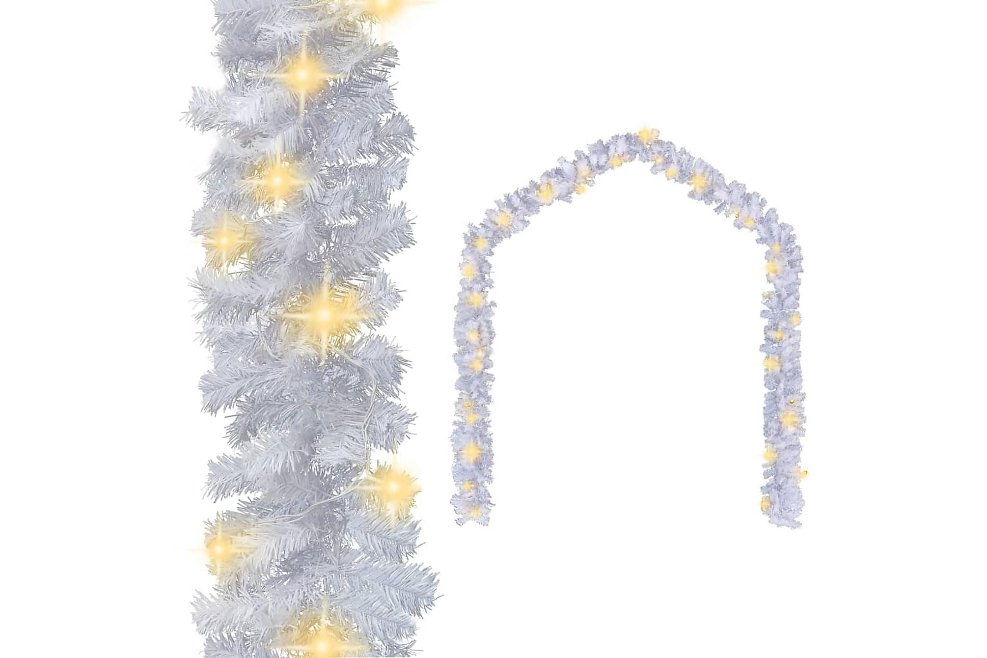 Julgirlang med LED-lampor 5 m vit, Julpynt & juldekoration