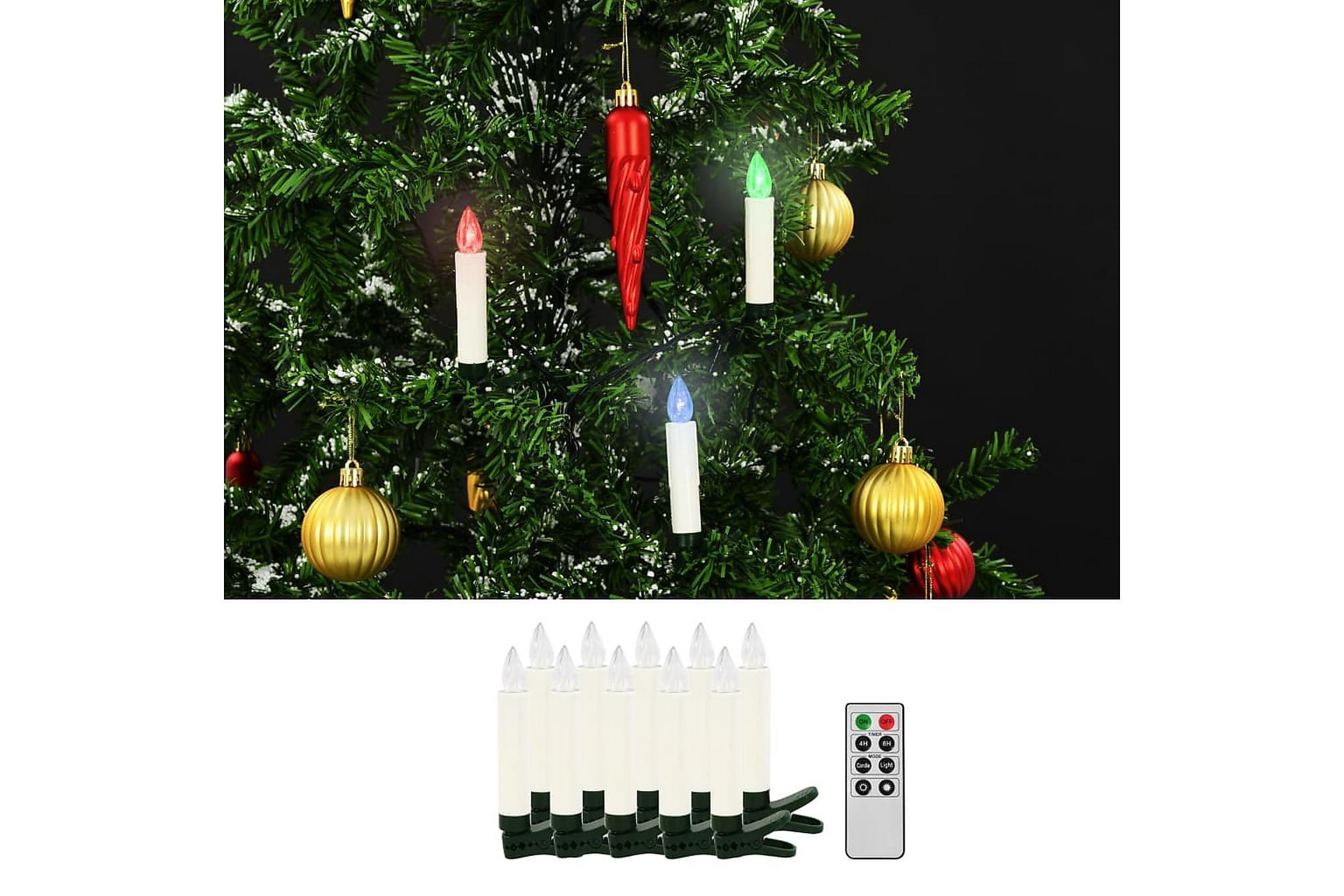 Trådlösa LED-ljus med fjärrkontroll 10 st RGB