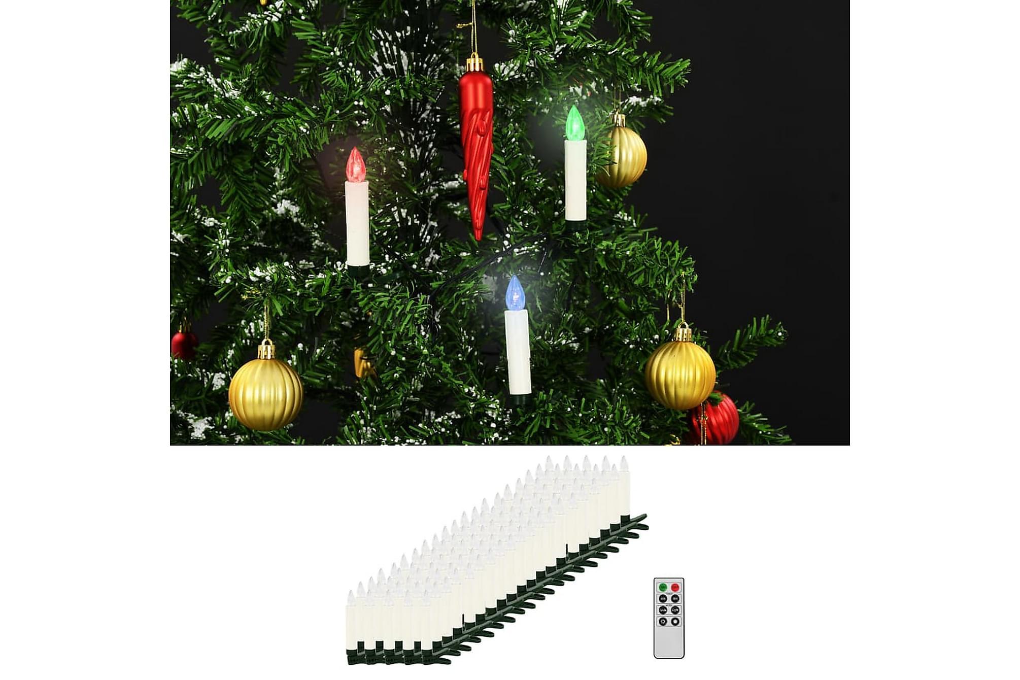 Trådlösa LED-ljus med fjärrkontroll 100 st RGB