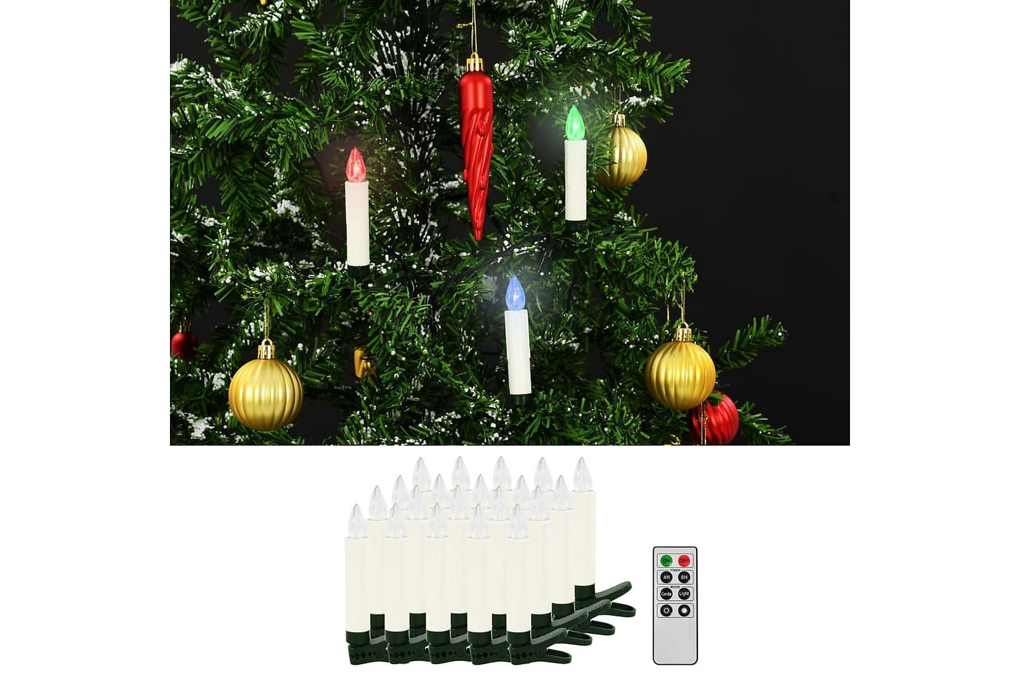 Trådlösa LED-ljus med fjärrkontroll 20 st RGB