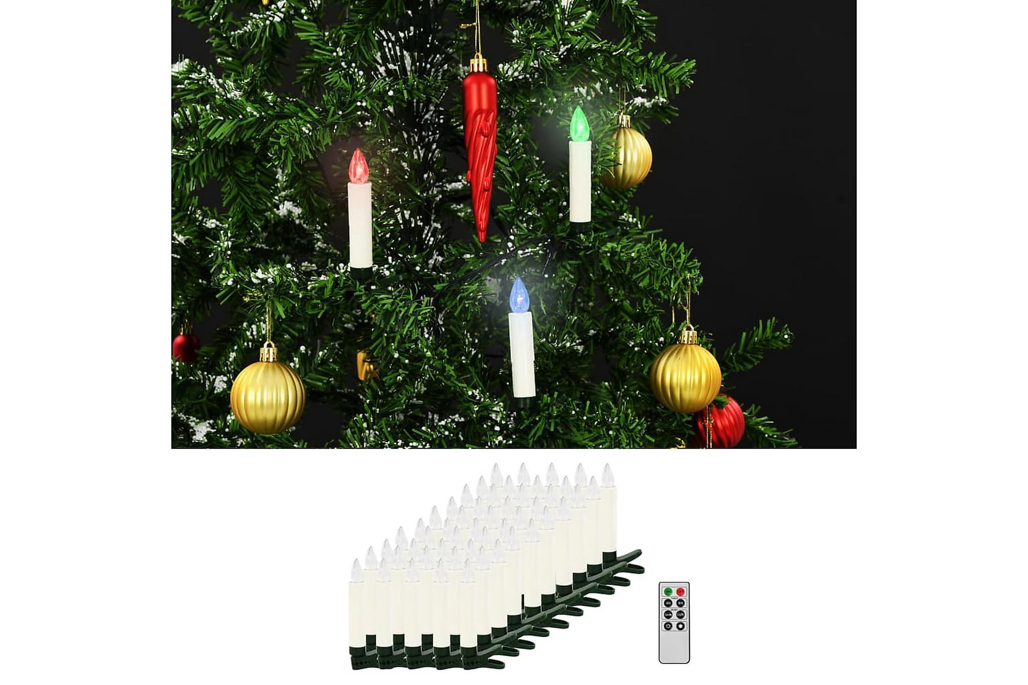 Trådlösa LED-ljus med fjärrkontroll 50 st RGB