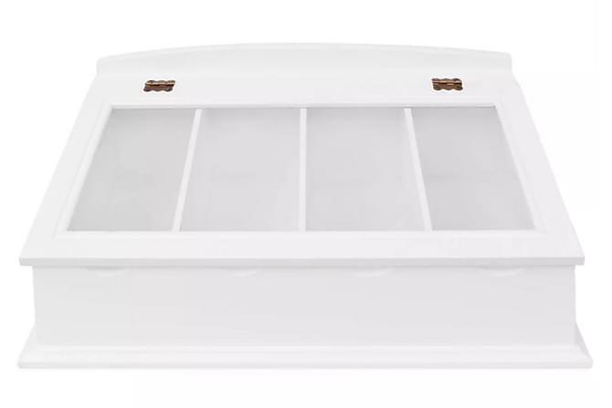 Besticklåda MDF vit barockstil - Vit - Möbler & Inredning - Inredning - Kökstextilier