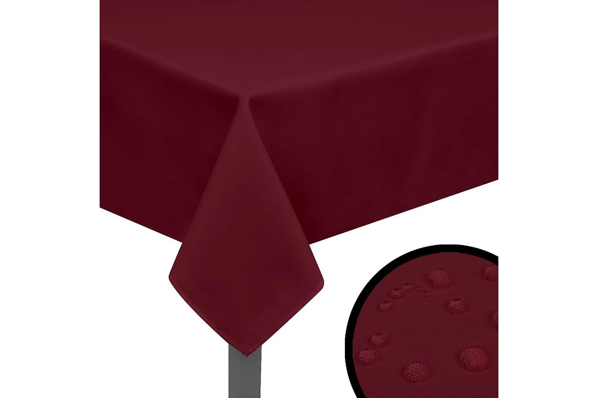 Bordsduk 5 st vinröd 190x130 cm, Kökstextilier