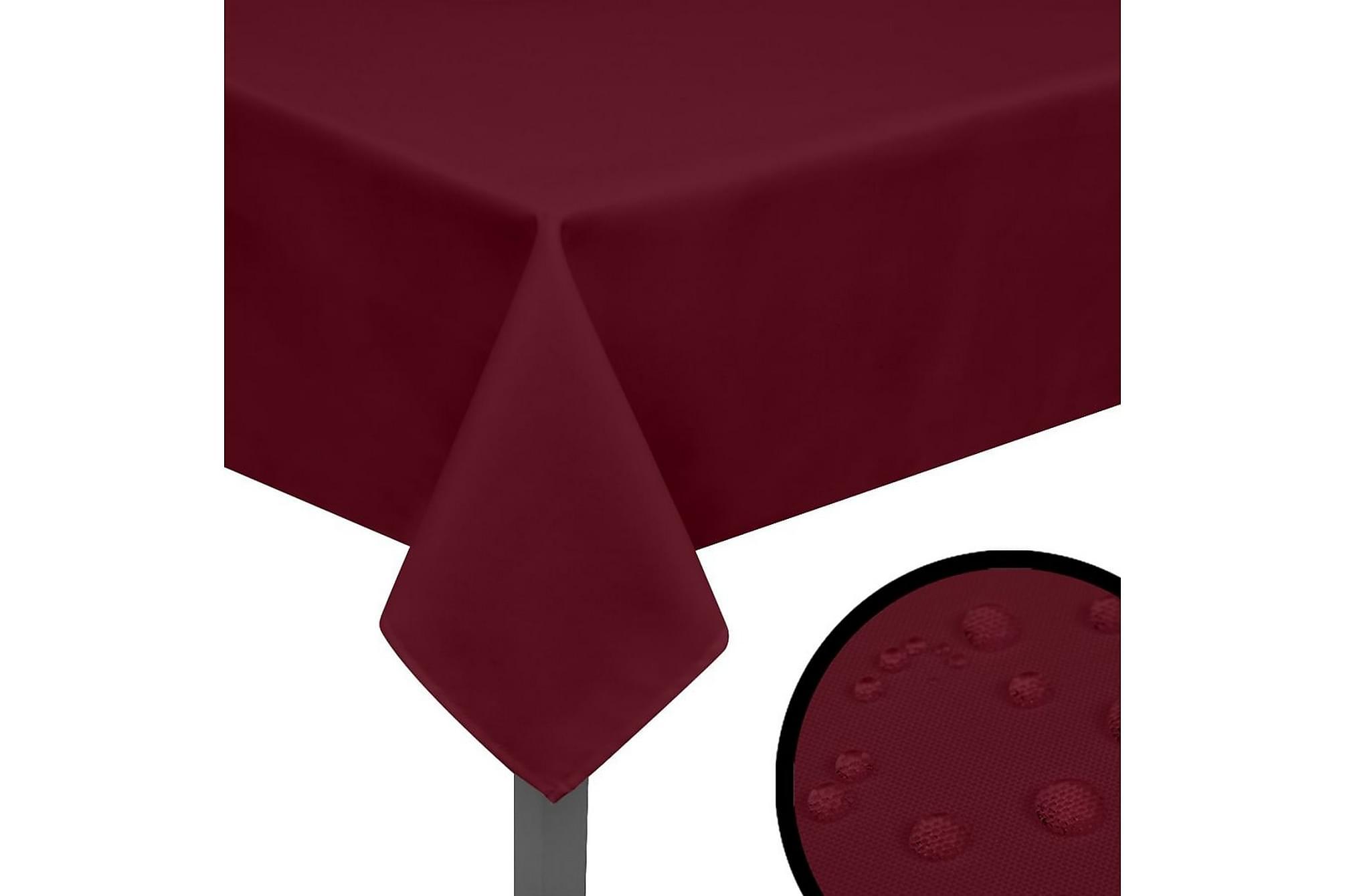 Bordsduk 5 st vinröd 250x130 cm, Kökstextilier