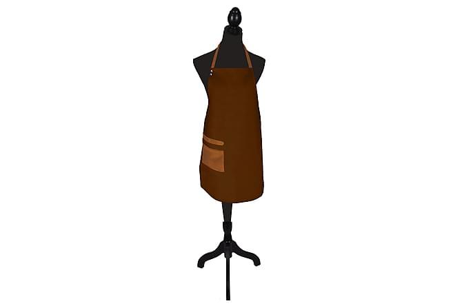 Förkläde 64x85  Skinnimitation Brun - Inomhus - Inredning - Kökstextilier