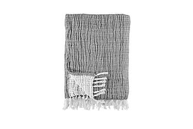 Pläd Tvättad Bomull Grey 130x170 cm