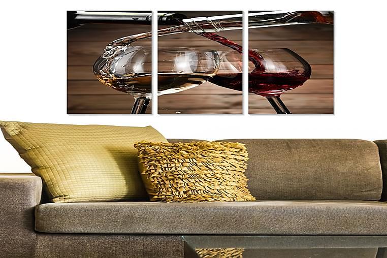 CANVASTAVLA 3-pack Flerfärgad 20x50 cm - Möbler & Inredning - Inredning - Posters & tavlor