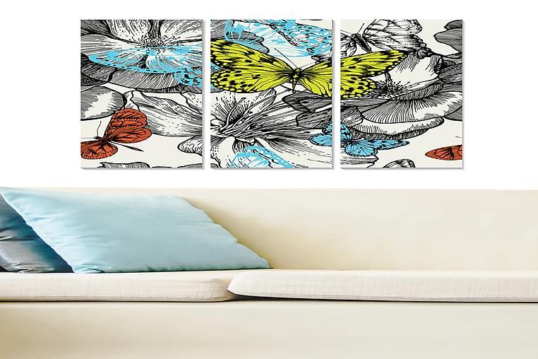CANVASTAVLA Animal 3-pack Flerfärgad 20x50 cm - Möbler & Inredning - Inredning - Posters & tavlor