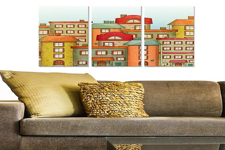 CANVASTAVLA City 3-pack Flerfärgad 20x50 cm - Möbler & Inredning - Inredning - Posters & tavlor
