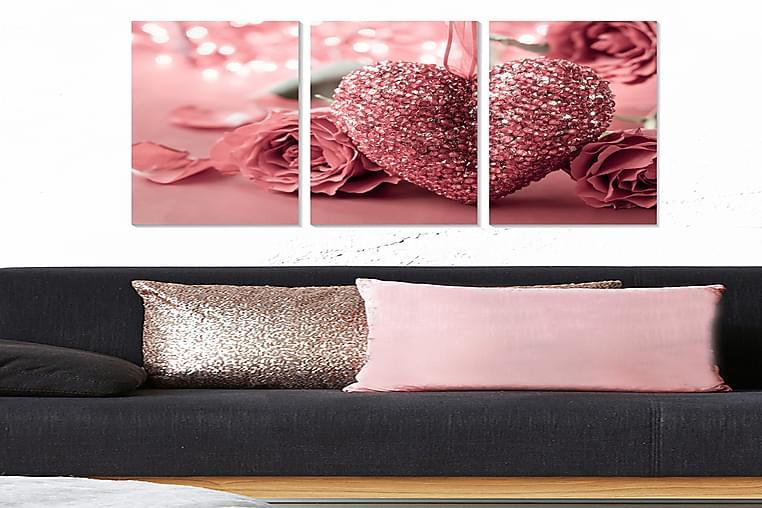 CANVASTAVLA Love 3-pack Flerfärgad 20x50 cm - Möbler & Inredning - Inredning - Posters & tavlor
