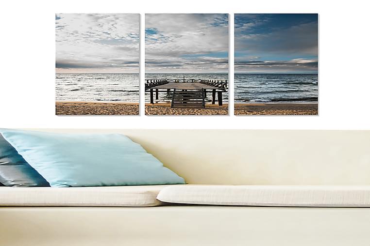 CANVASTAVLA Nautical 3-pack Flerfärgad 20x50 cm - Möbler & Inredning - Inredning - Posters & tavlor