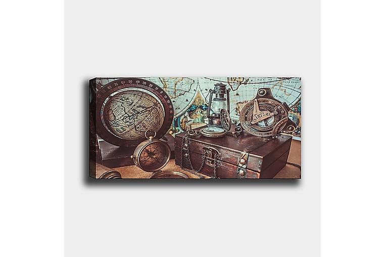 CANVASTAVLA YTY Map Flerfärgad 120x50 cm - Möbler & Inredning - Inredning - Posters & tavlor